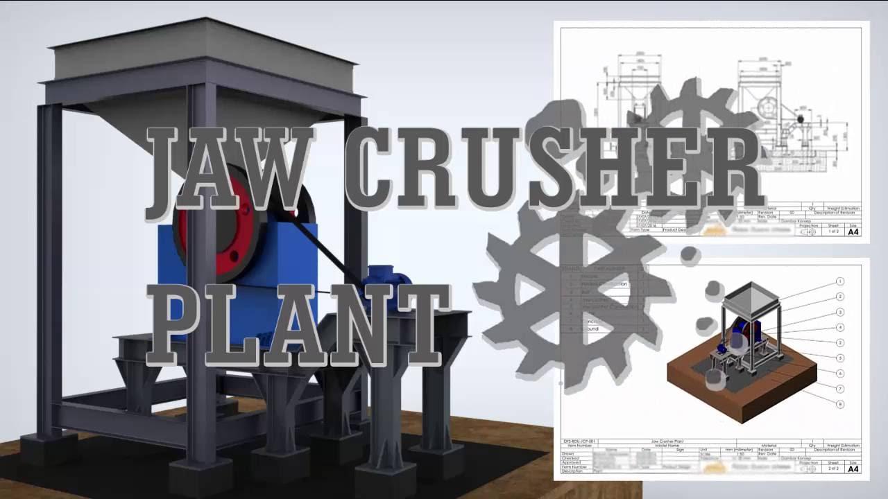 DESIGN JAW CRUSHER PLANT | INDUSTRIAL | 3D MODELING | ANIMATION |  SOLIDWORKS | KEYSHOT