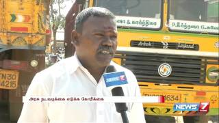 Tamil lorry drivers face life risk while transporting to North India | News7 Tamil
