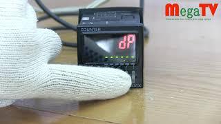 Counter Omron H7CX đo chiều dài với Cảm biến từ hoặc Encoder