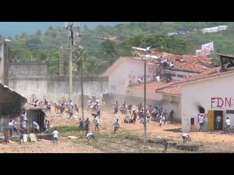 Ofensiva policial con balas de goma en prisión brasileña