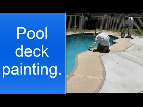 Pool deck painting in Phoenix AZ  YouTube