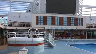 4K Video Tour of Aqua Pool & Bar & Sea Screen Cinema on board P&O Azura