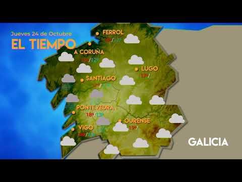 Previsión meteorológica Ourense 24 octubre 2019