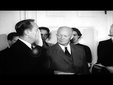 attorney-general,-william-p-rogers-sworn-in-by-chief-justice-warren-at-white-hous...hd-stock-footage