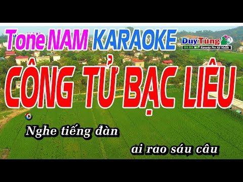 Công Tử Bạc Liêu Karaoke Tone Nam - Karaoke Duy Tùng