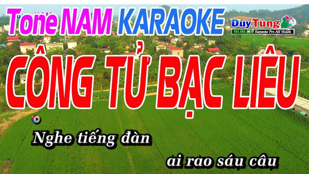 Công Tử Bạc Liêu Karaoke Tone Nam – Karaoke Duy Tùng