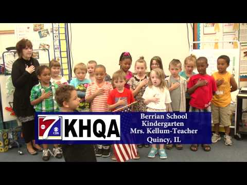 Pledge of Allegiance by Mrs. Kellum's Kindergarten class at Berrian School in Quincy, IL