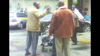 Man arrested by NCC askaris for pushing a Trolley wrong way