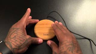 WoodPuck Bamboo Edition Qi Wireless Charger Pad