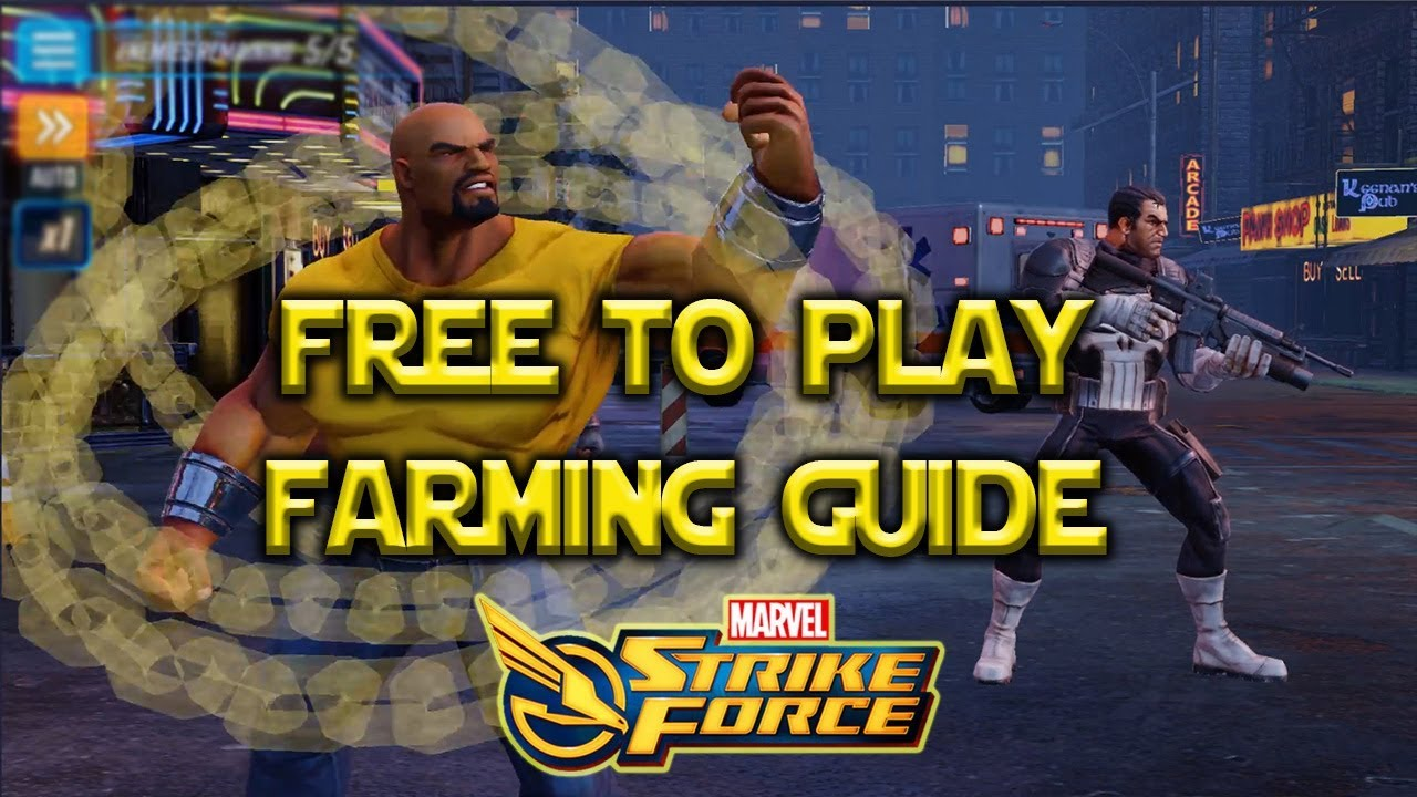 Free To Play Farming Guide Featuring ValleyFlyin - Marvel Strike Force - MSF