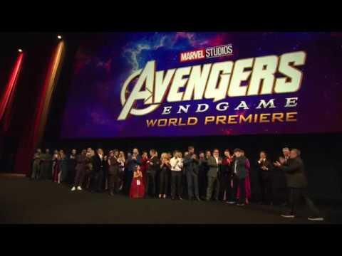 Avengers Endgame World Premiere Los Angeles - Cast Photo (official video)