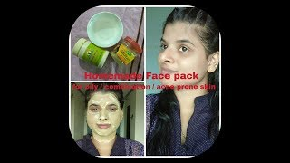 Homemade face pack for oily / combination/ crystal clear glowing skin - Beauty withrovina