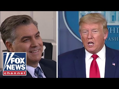 Trump's Heated Exchange With CNN's Acosta On Obama's Pandemic Record