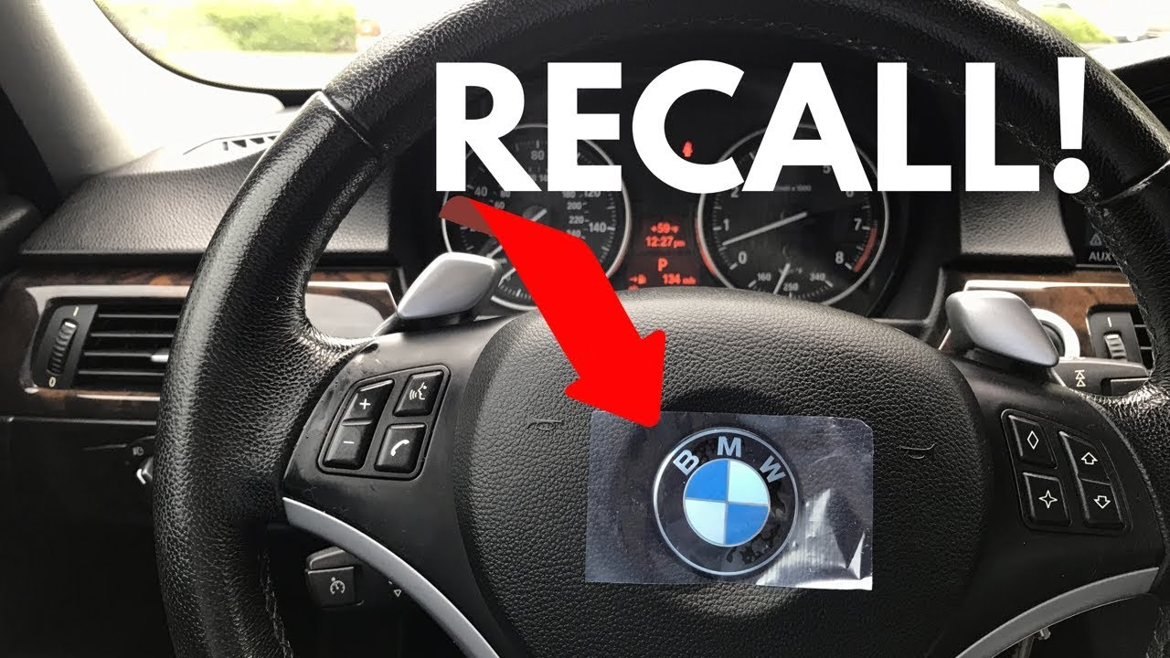 BMW Takata Airbag RECALL FINAL Notice!   YouTube