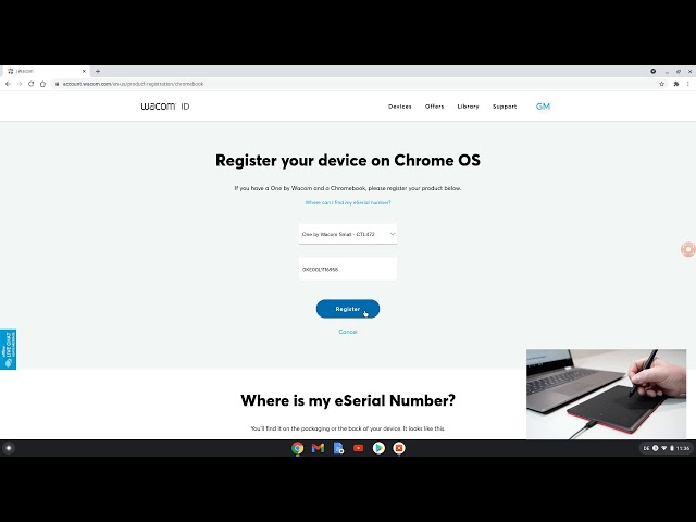 Register & download Collaboard with One by Wacom and Chrome