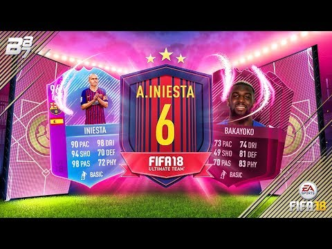 END OF ERA INIESTA SBC COMPLETED! FUTTIES VOTING!   FIFA 18 ULTIMATE TEAM