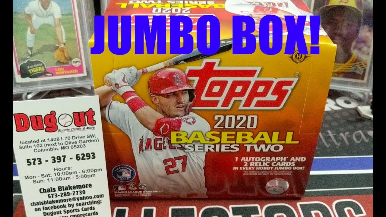 2020 Topps Series 2 Jumbo Box 1 Auto 2 Relics Per Box ** Nice Relic & Auto! **