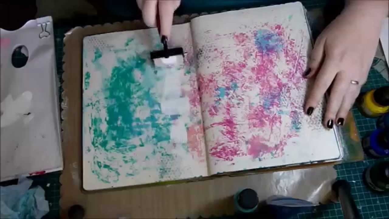 10 basic background techniques for art journaling youtube for Set painting techniques