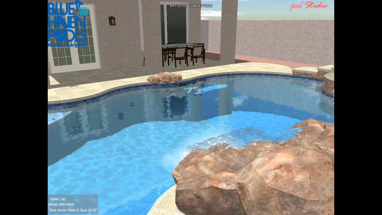 Bh jc2 3d swimming pool design youtube for Swimming pool design youtube