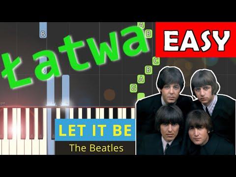 🎹 Let it be (The Beatles) - Piano Tutorial (łatwa wersja) 🎹