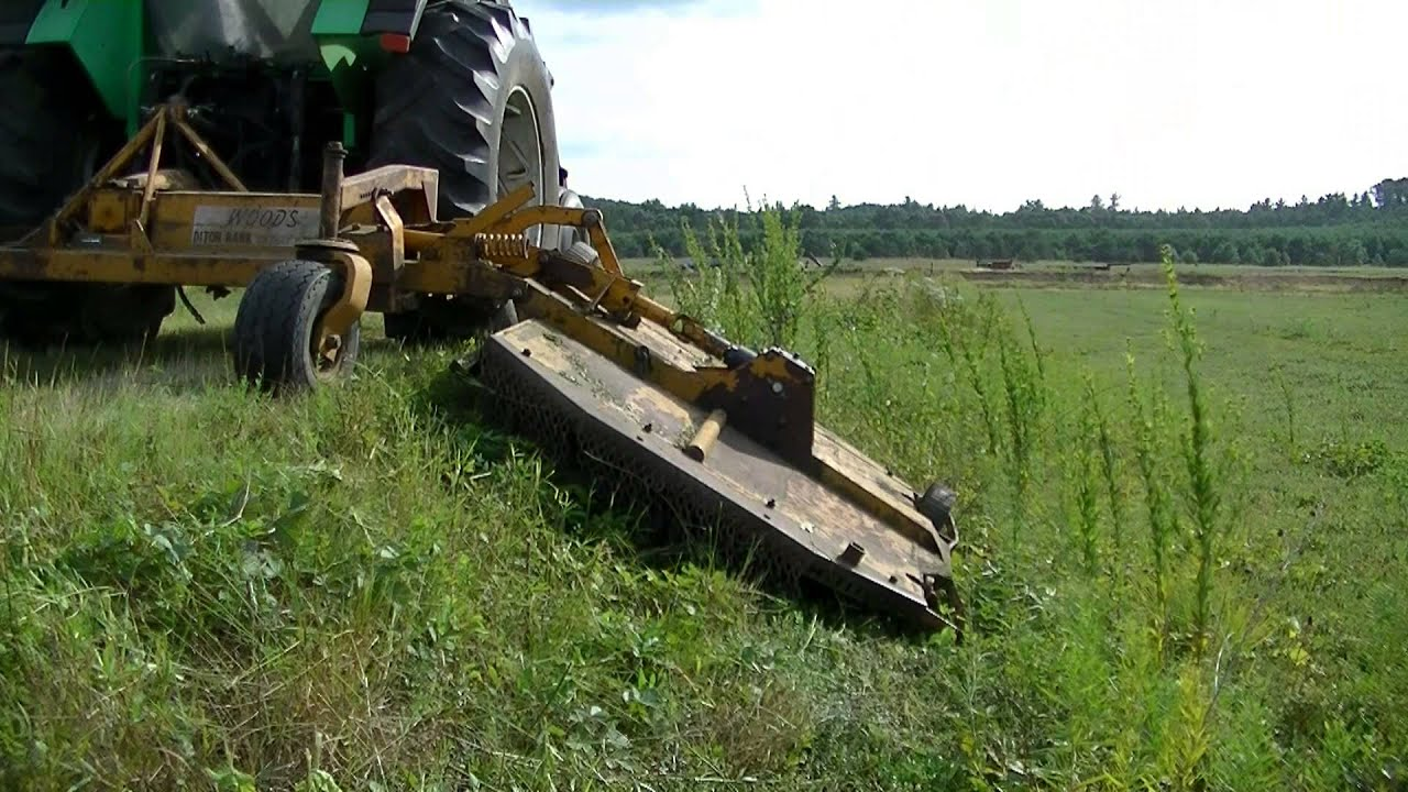 Woods Ditch Bank Mower Mowing Cranberry Dikes Youtube