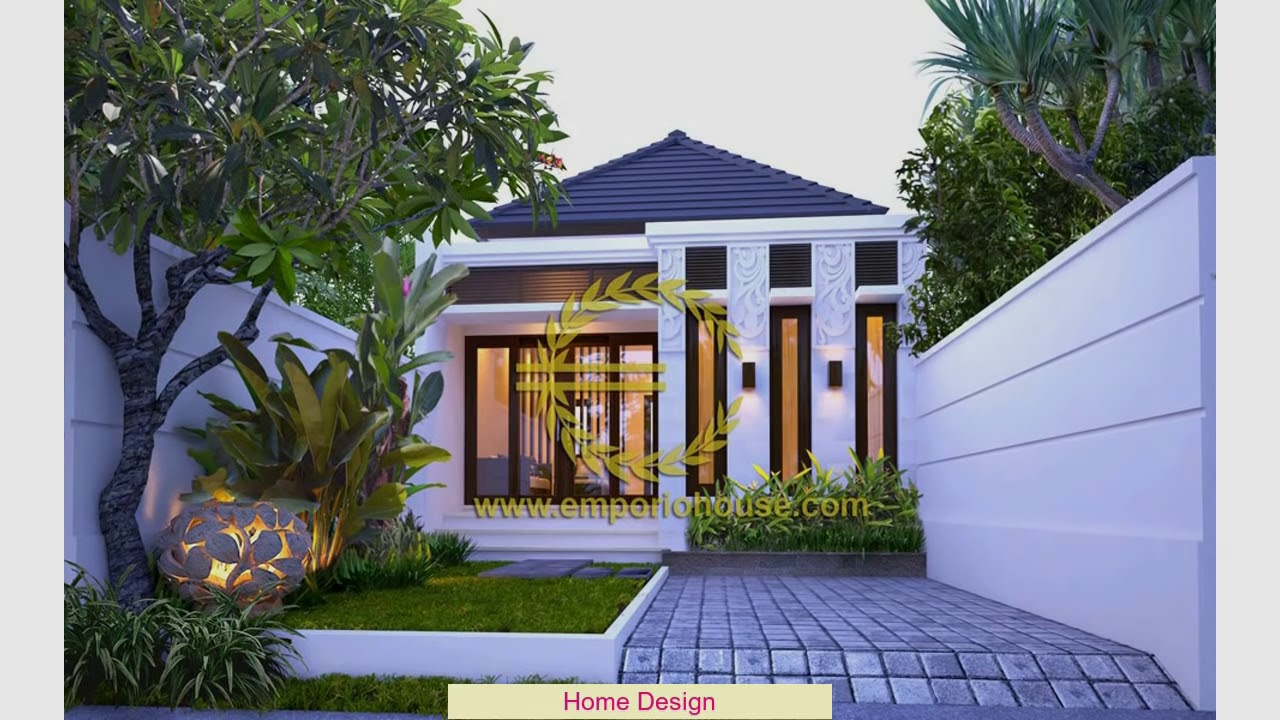 Desain Rumah Modern 1 Lantai 4 Kamar - YouTube