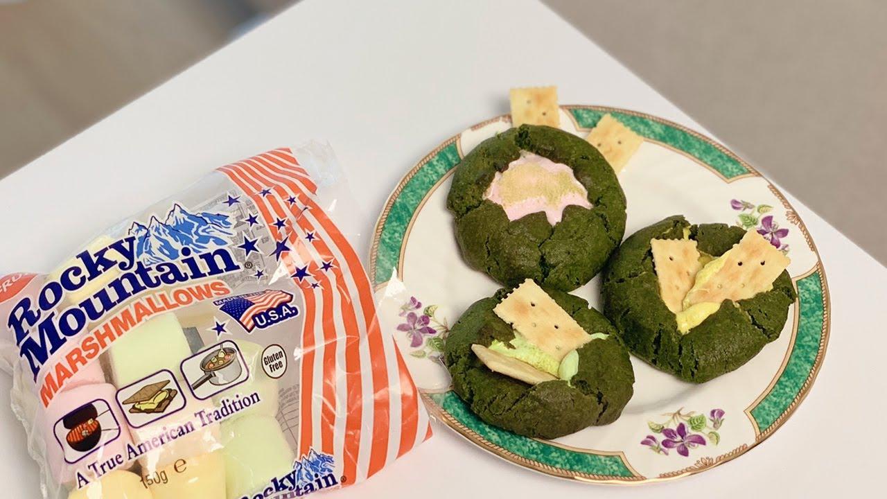 [마시멜로우] 말차 스모어쿠키 만들기 : [Marshmallow] Matcha S'more cookie | 오데 O'de