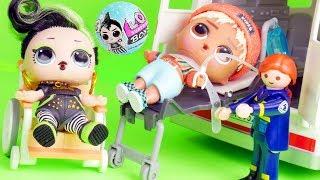 LOL Surprise Dolls Fake Barbies Dress Up for Ambulance | Toy Egg Videos