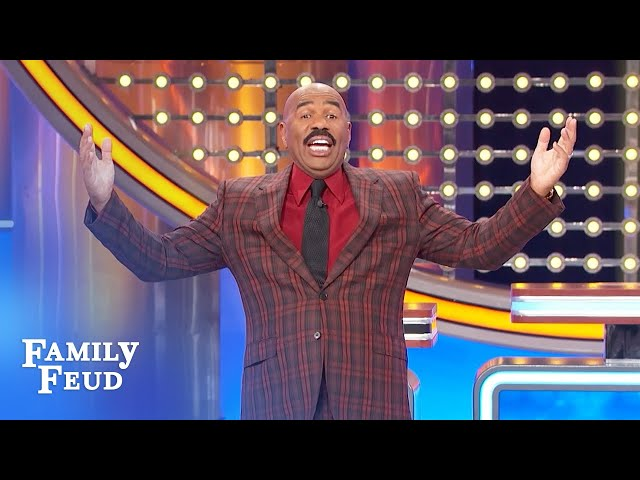 These Texans have a big song for Steve Harvey! | Family Feud
