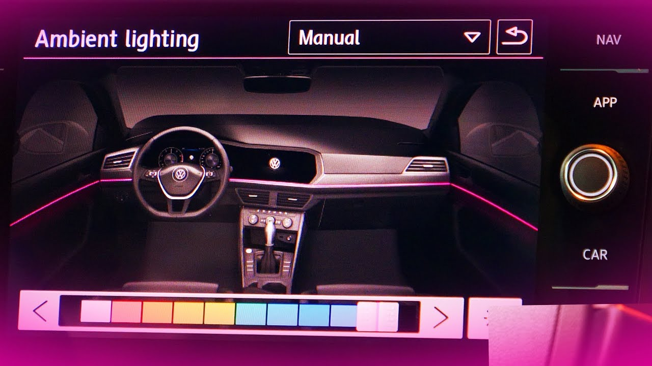 2019 Volkswagen Jetta 10 Color Ambient Interior Lighting Demo