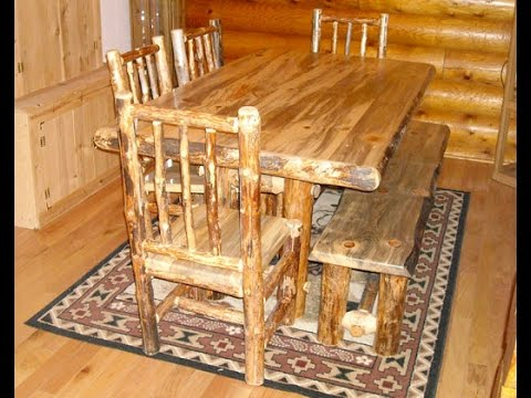 Tiny Portable Cedar Cabins: Featuring Custom Rustic Tables: North Idaho Log  Furniture Co.