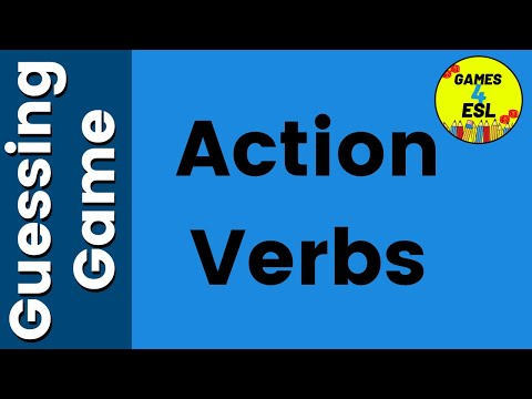 Action Verbs ESL Activity   English Vocabulary Games