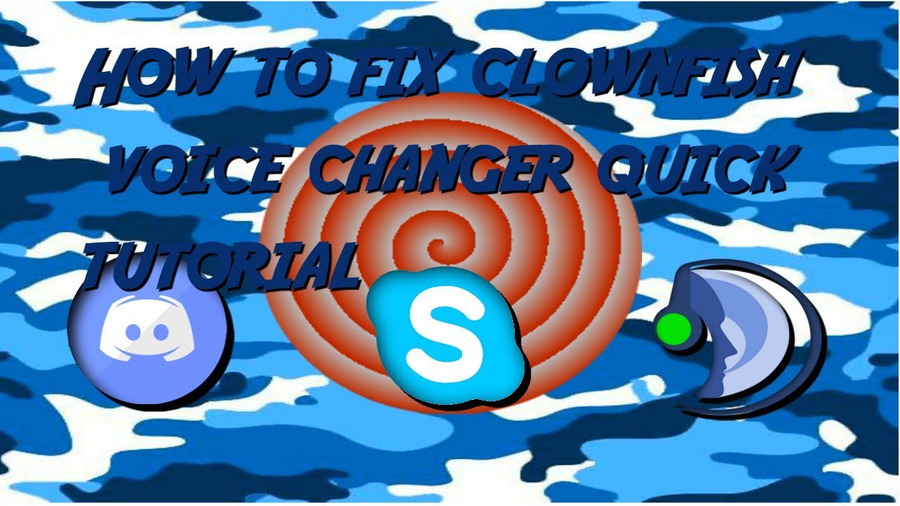 how to fix clown fish voice changer/install