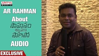 Download Hindi Video Songs - AR Rahman About Saahasam Shwasaga Saagipo Songs || NagaChaitanya, Manjima Mohan