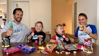 Familjen testar godis från Nya Zeeland Video