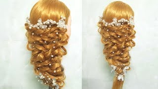 Beautiful Hairstyle for Wedding/party/Function | Hair Style Girl | Different Hairstyles for Party🍀1