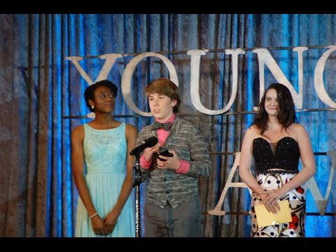 Zachary Haven winning Young Artist Award 2016