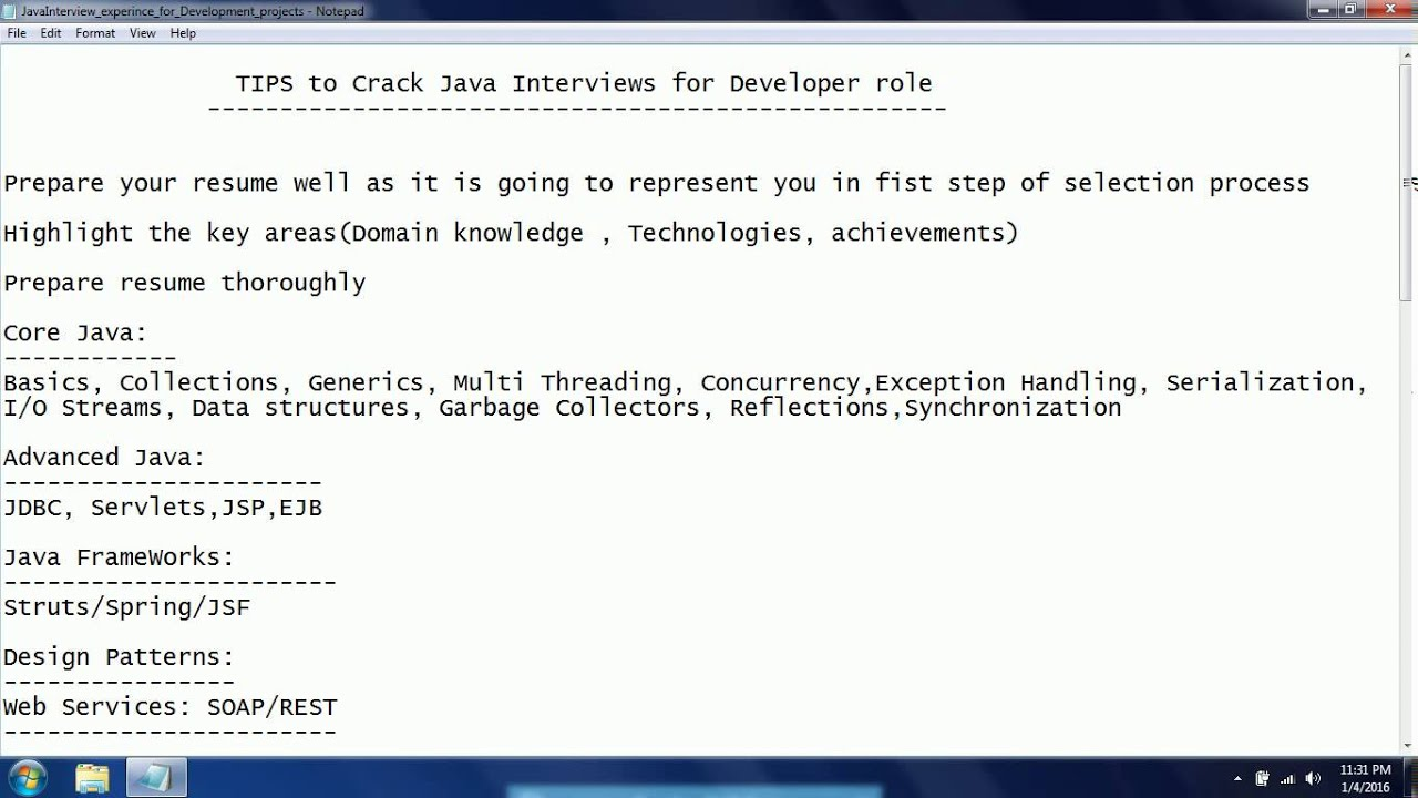 tips to crack java interviews for experience candidates applying tips to crack java interviews for experience candidates applying for developer role