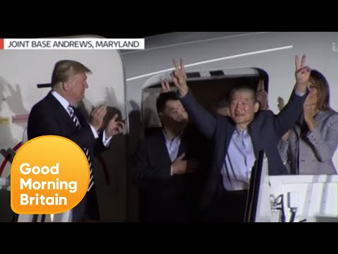 North Korea Prisoners Arrive to US | Good Morning Britain