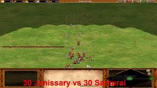 Age of Empires 2 - Janissary vs Samurai