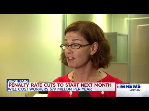 Penalty Rates Cuts | 9 News Perth