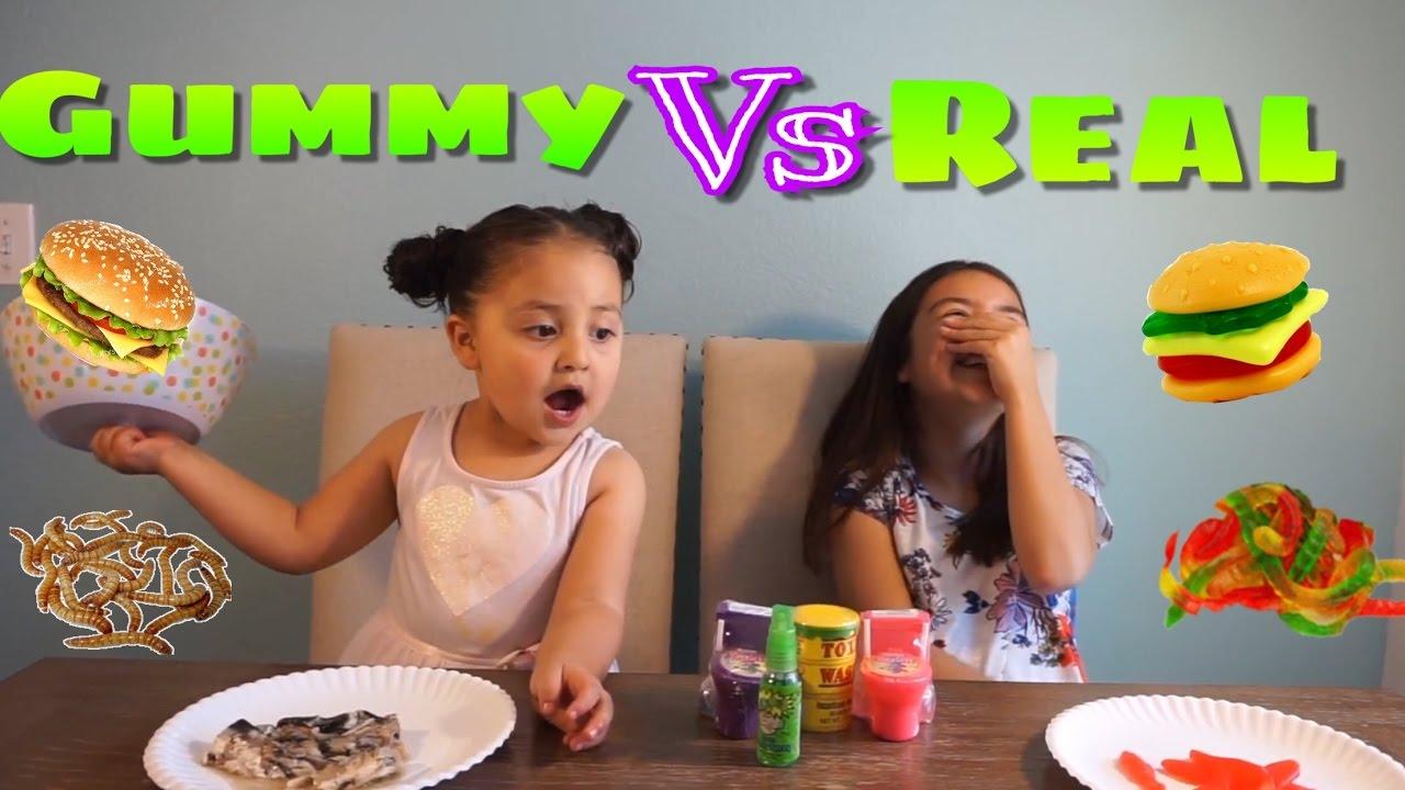 Gummy Vs Real Food Challenge Youtube
