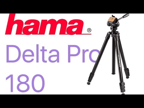 Hama Delta Pro 180 Photo/Video Tripod with 2D Tilt Head - unboxing (60cm -180 cm)