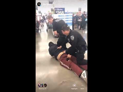 April 10, 2019 San Bernardino Police LET GO!  Rialto Walmart