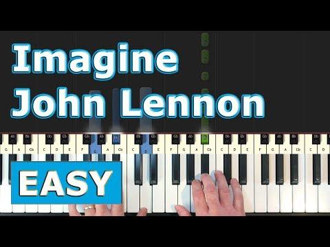 John Lennon - Imagine - EASY Piano Tutorial - Sheet Music (Synthesia)