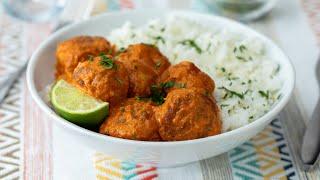 Butter Chicken Meatballs •Tasty