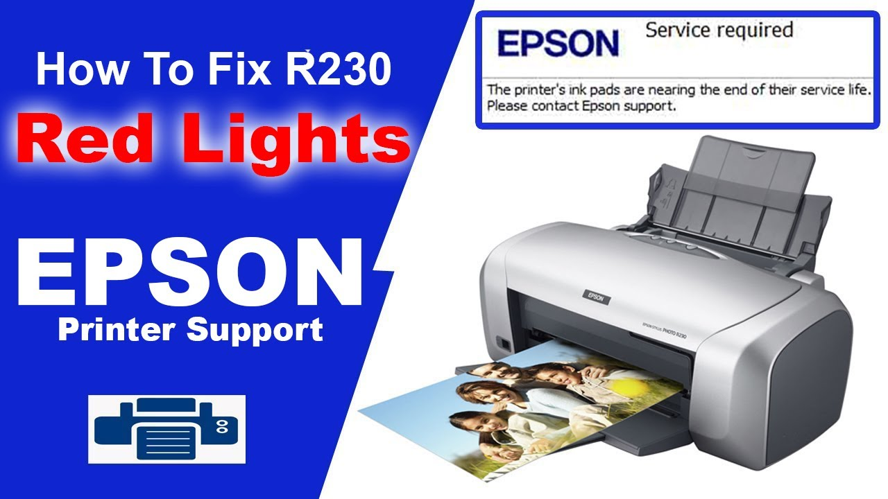 Epson R230 Reset Printer Problem And Solve With Software Youtube