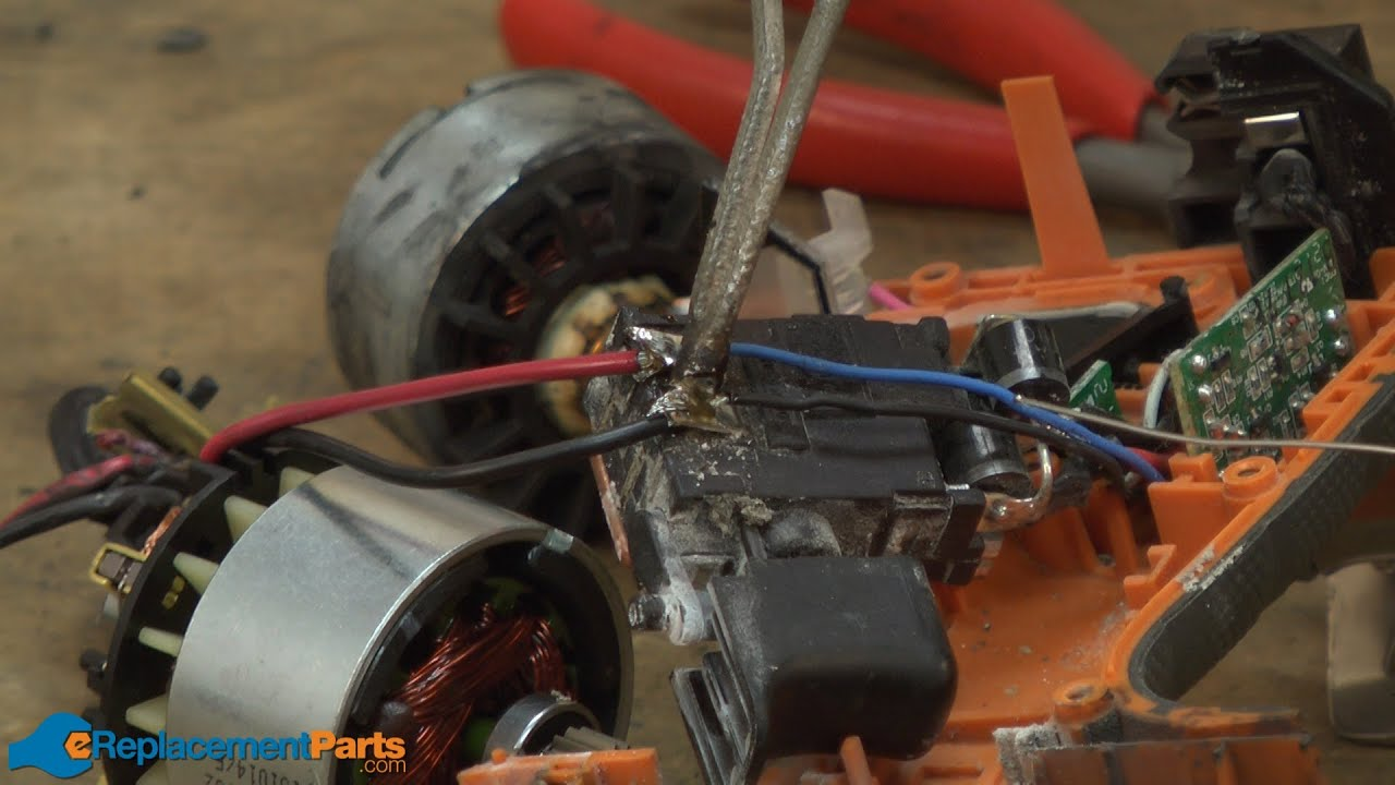 how to replace the motor in a ridgid r86008 cordless drill part 200146085  [ 1280 x 720 Pixel ]