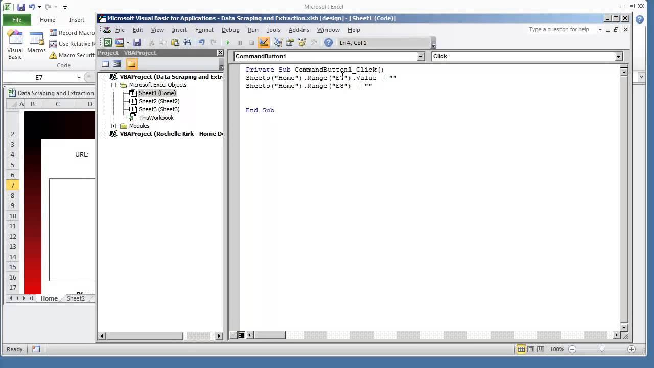 How To Create A Reset Clear Form Button Worksheet Vba
