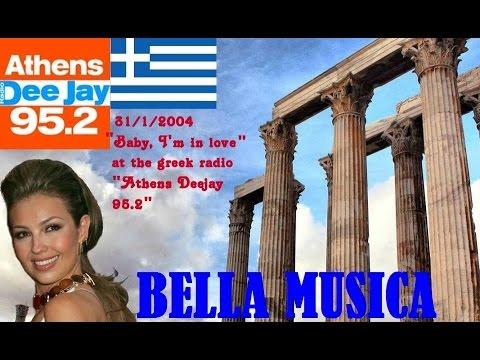 """Thalia's""""Baby I'm in love""""@the greek radio""""Athens Radio DJ 95.2"""" in 2004"""